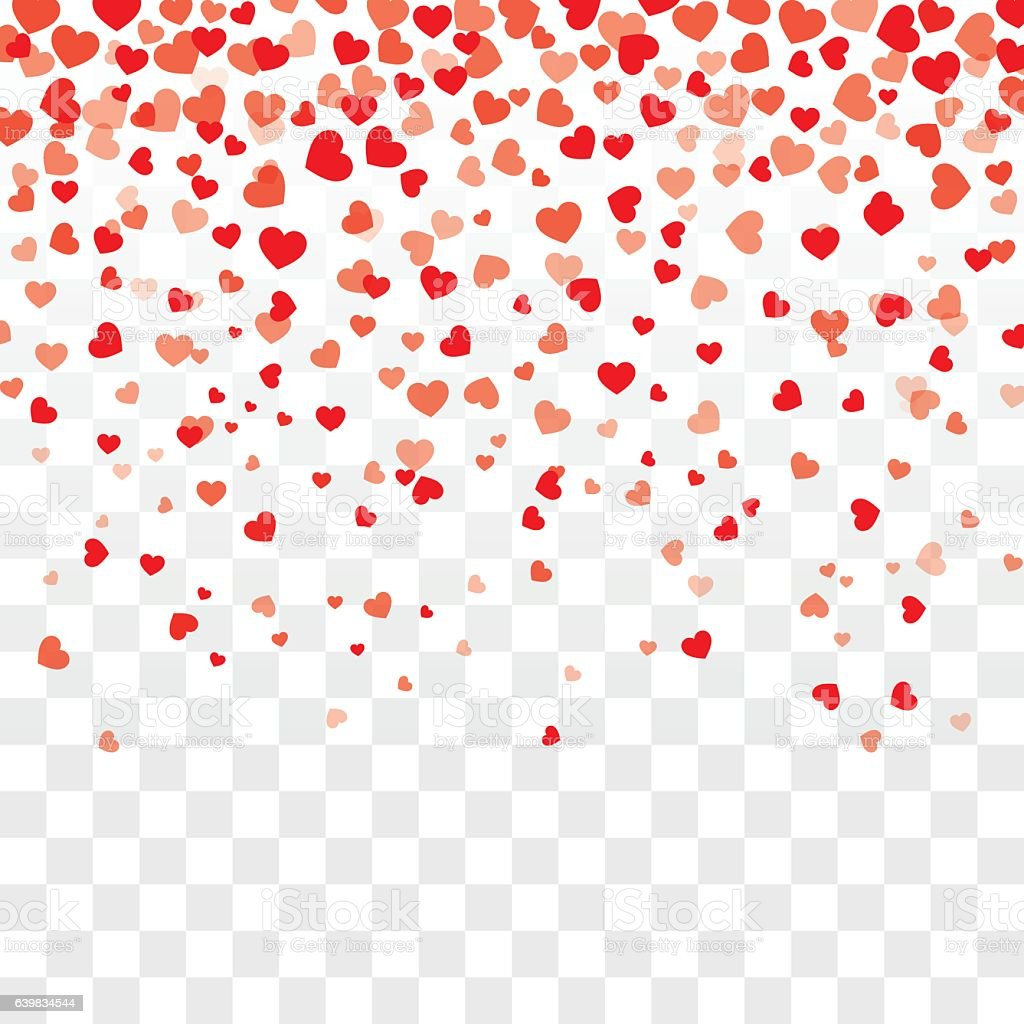 Rose Petals Falling Wallpaper Transparent Gif Valentine Background With Hearts Falling On Transparent