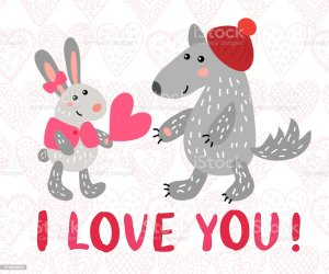 169 Drawing Of Wolf Love Illustrations Royalty Free Vector Graphics & Clip Art iStock
