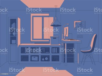 Vector 3d Illustration Living Room In Simple Colors Interior Anime Background Style Manga Style Stock Illustration Download Image Now iStock