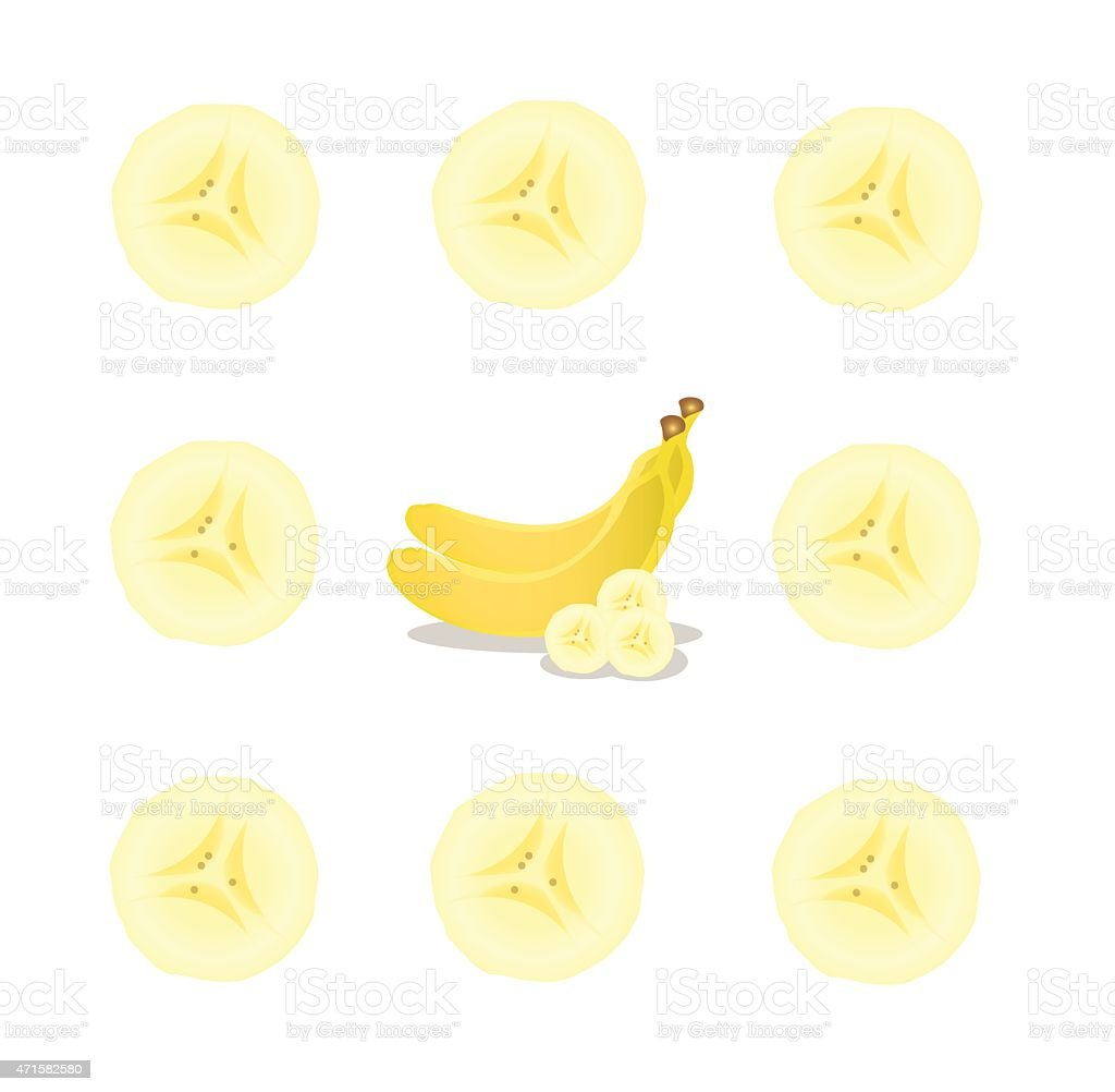royalty free sliced banana clip
