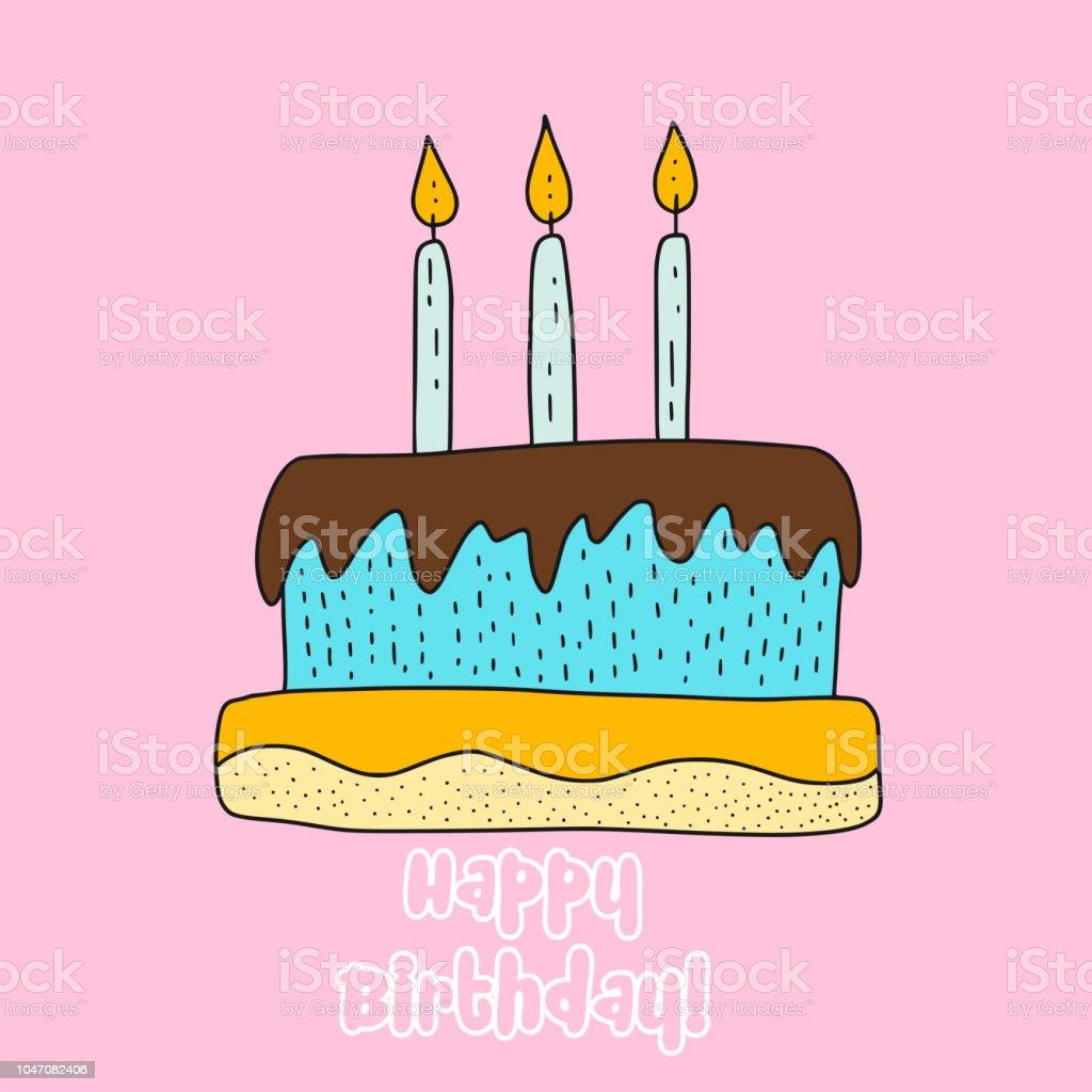 向量生日蛋糕卡通插圖向量圖形及更多三件物體圖片 - iStock