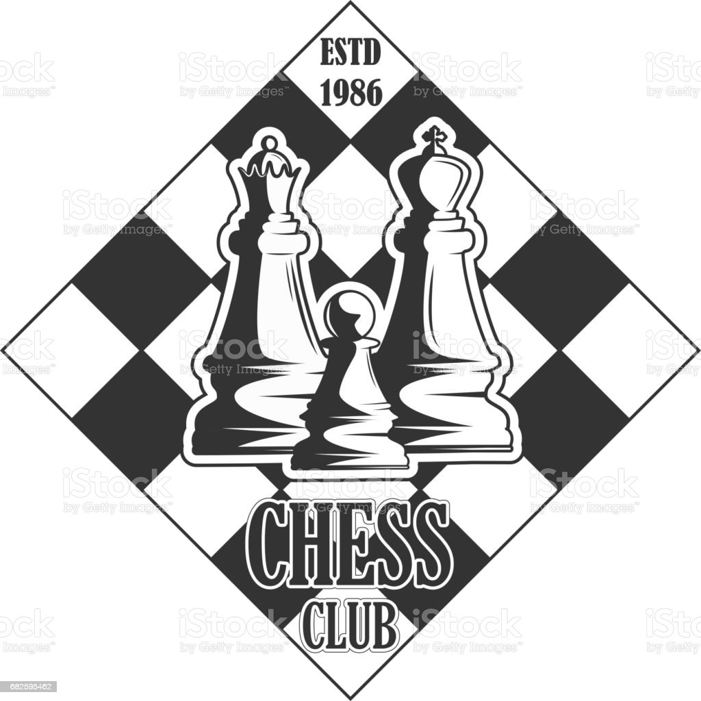 Vector Black And White Chess Club Logo For Your Design
