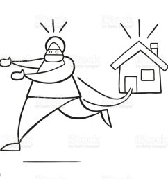vector cartoon thief man with face masked running away from house royalty free vector cartoon [ 1024 x 907 Pixel ]