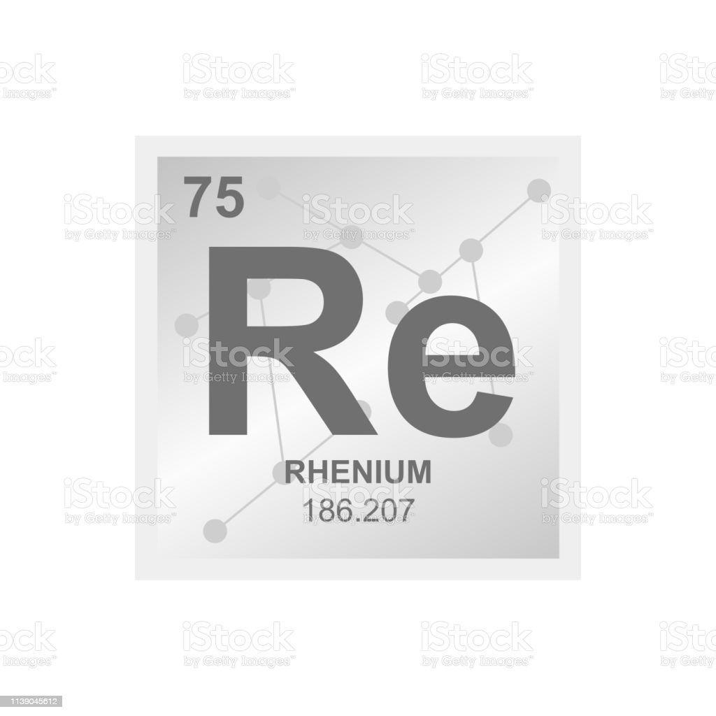 hight resolution of vector chemical symbol of rhenium from the periodic table of the elements on the background from