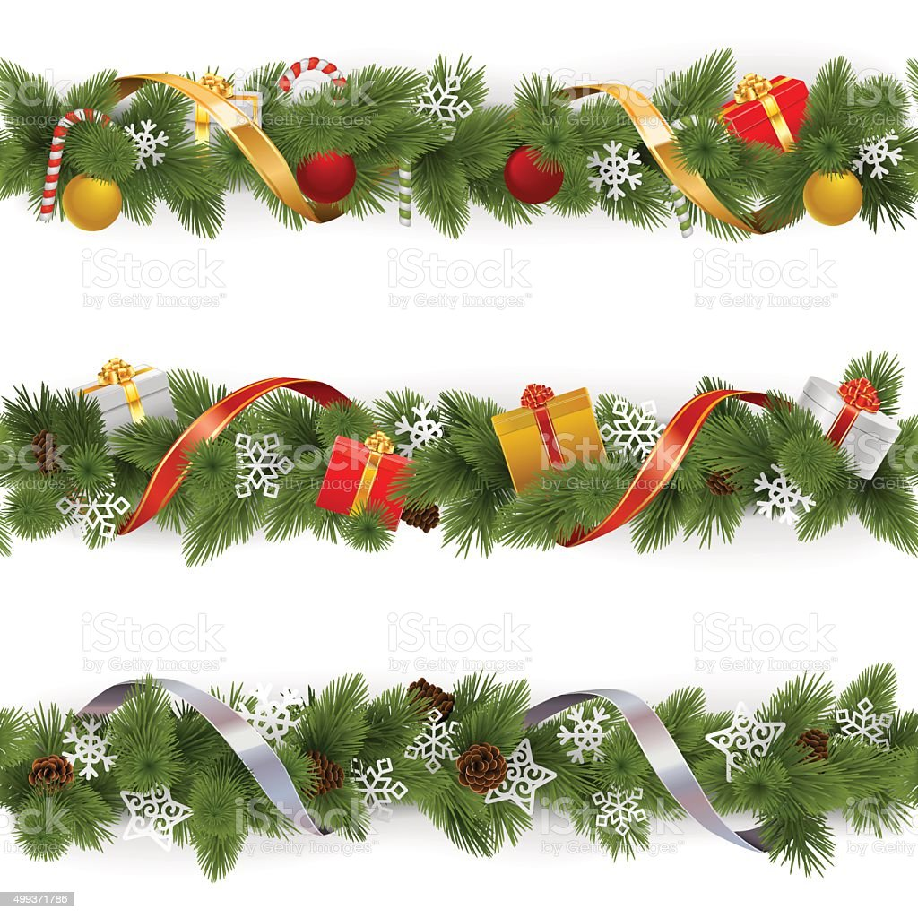 royalty free floral garland clip