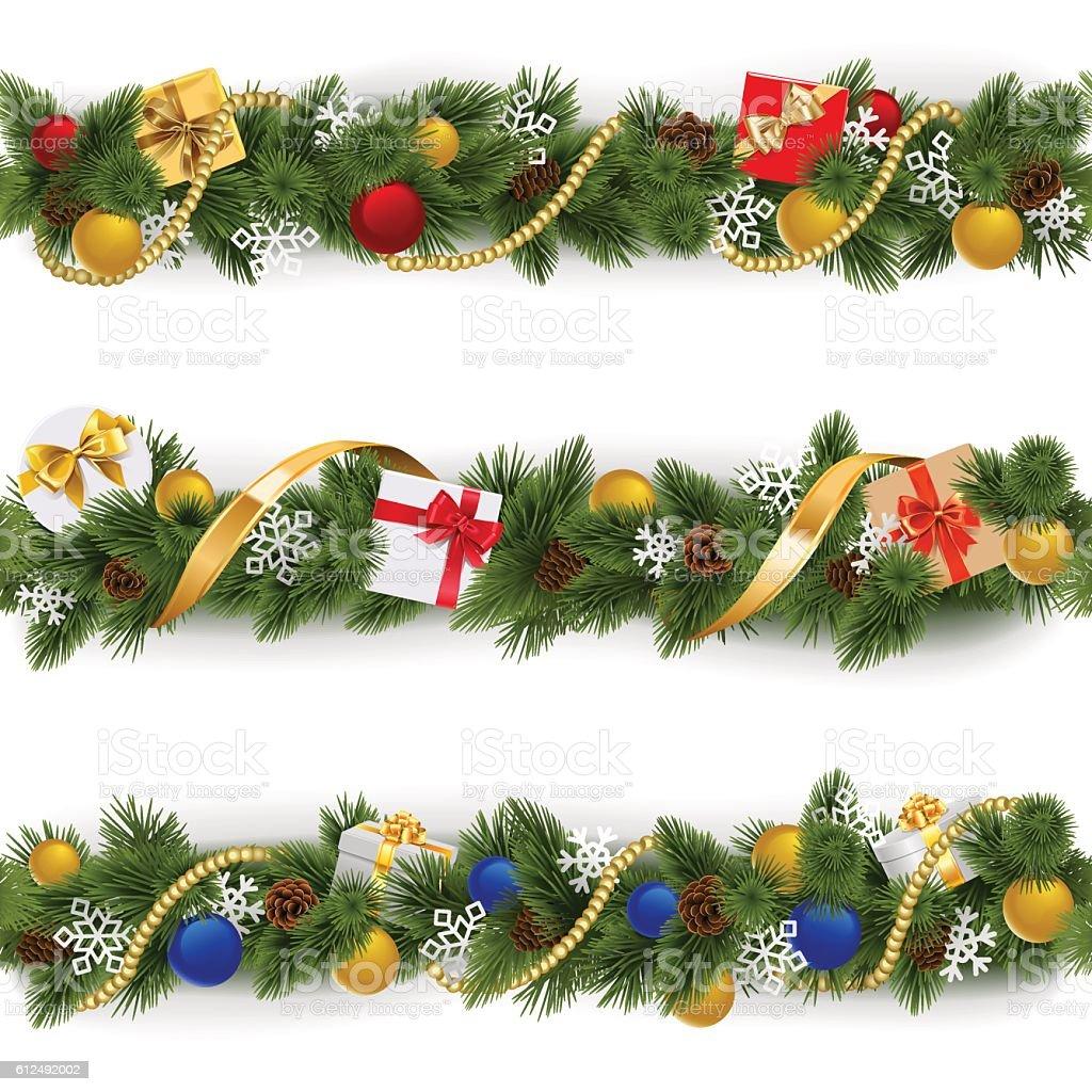 floral garland clip art vector