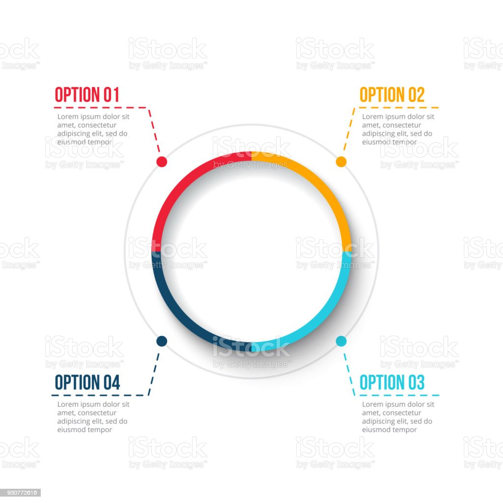 hight resolution of vector circle element for infographic template for cycle diagram graph presentation and round