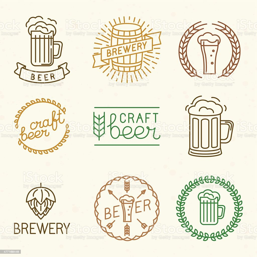 Vector Craft Beer And Brewery Logos Stock Illustration Download Image Now Istock