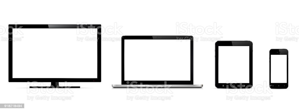 Vector Digital Devices Monitor Laptop Tablet And Smart