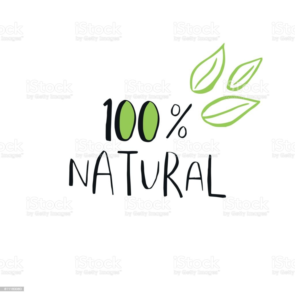 Vector Eco Bio Green Icon Or Sign Vegan Raw Healthy Food