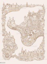 medieval european landscape vector buildings urban fantasy