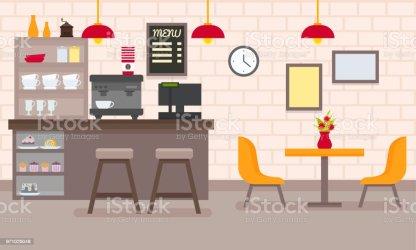 interior restaurant modern cafe clip vector illustrations cartoons graphics