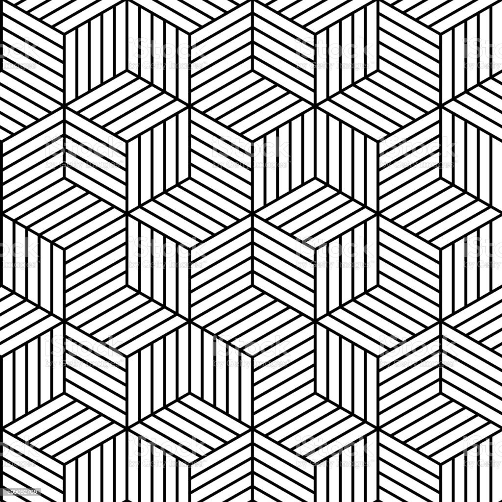 Vector Geometric Seamless Pattern Background Stock Illustration - Download Image Now - iStock