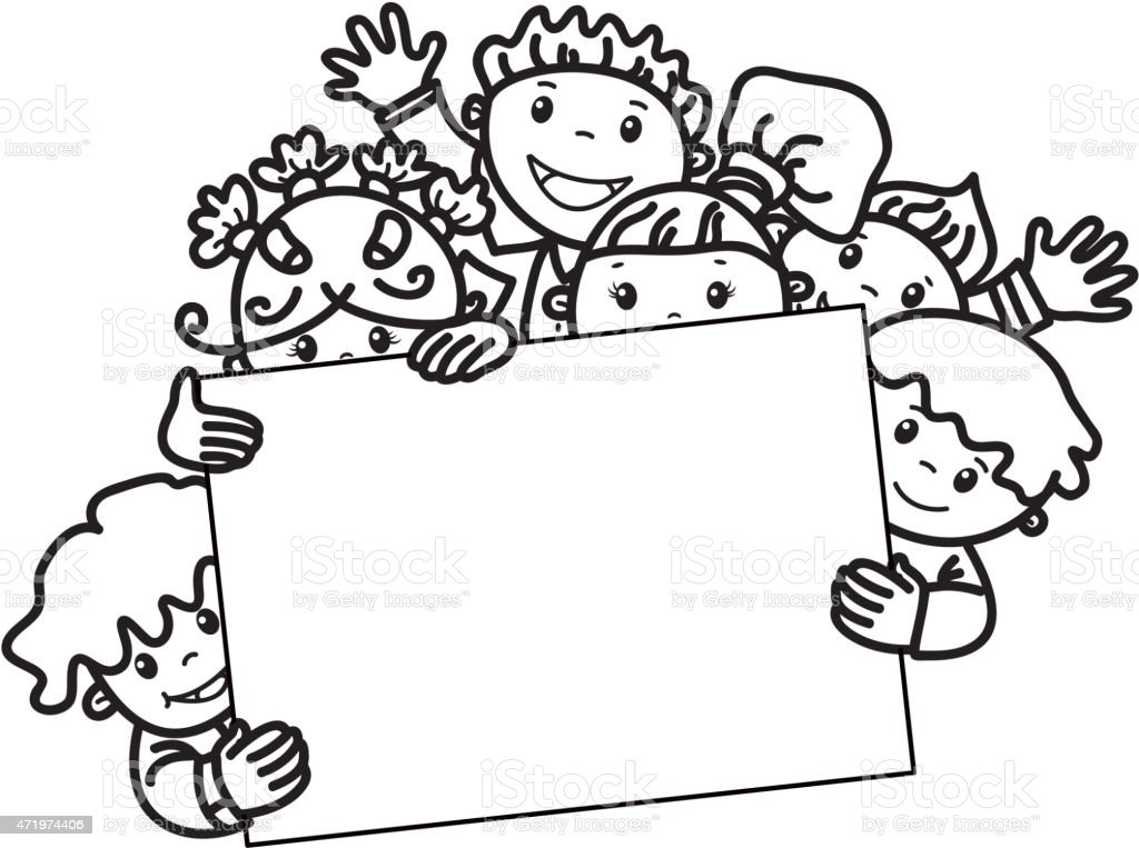 Vector Happy Kids With Frame Stock Vector Art & More