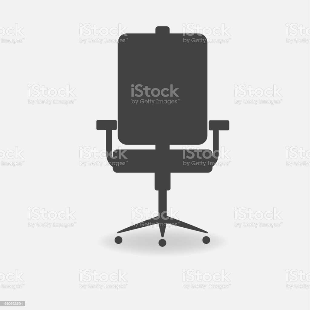 office chair vector white linen dining room covers icon stock art more images of arm royalty free amp