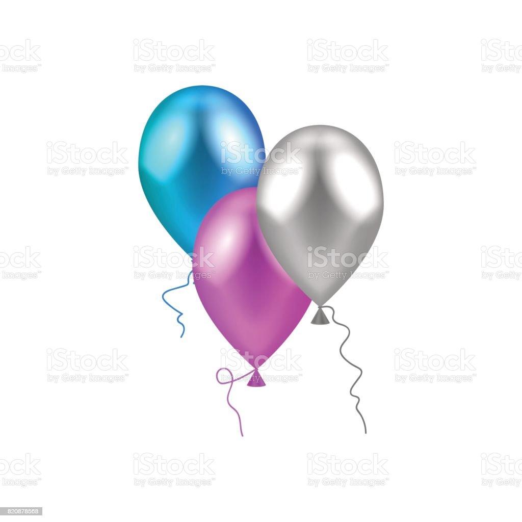 royalty free silver balloon clip