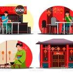 Vector Illustration Japanese Restaurant Set Stock Illustration Download Image Now Istock