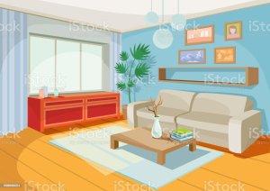 living vector cartoon illustrations cozy interior illustration clip graphics