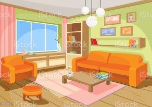 living illustrations vector cartoon clip illustration interior cozy