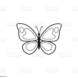 Vector Illustration Of Butterfly Outline Stock Illustration Download Image Now iStock