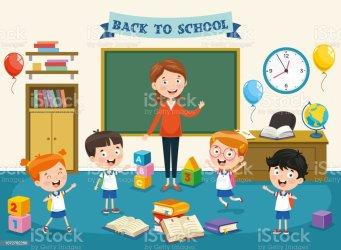 Classroom Preschool Teacher Clipart