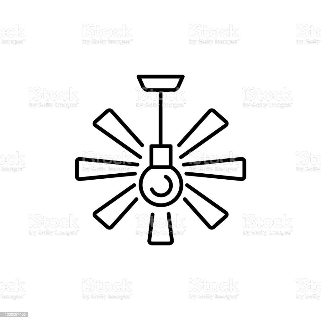 Ceiling Fan Line Drawing