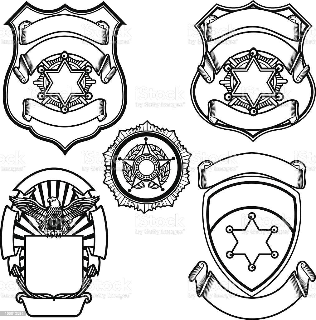Vector Illustration Of Sheriff Badges Stock Vector Art
