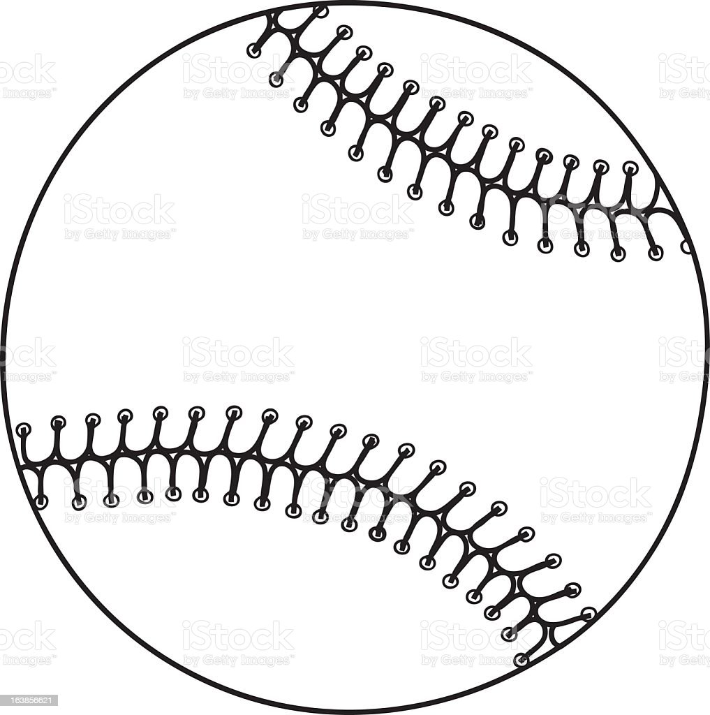 Vector Image Of A Black And White Baseball Stock Vector