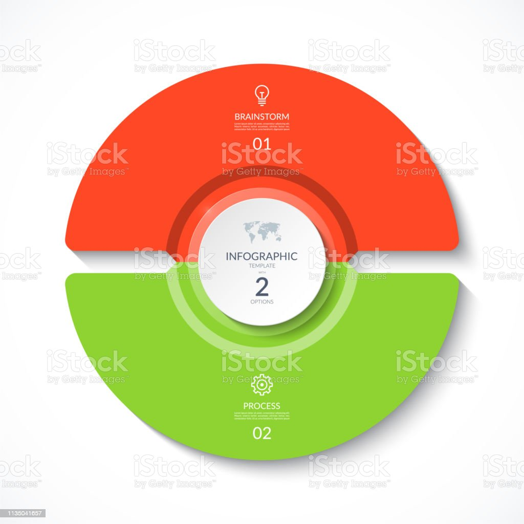 hight resolution of cycle diagram with 2 options round chart that can be used