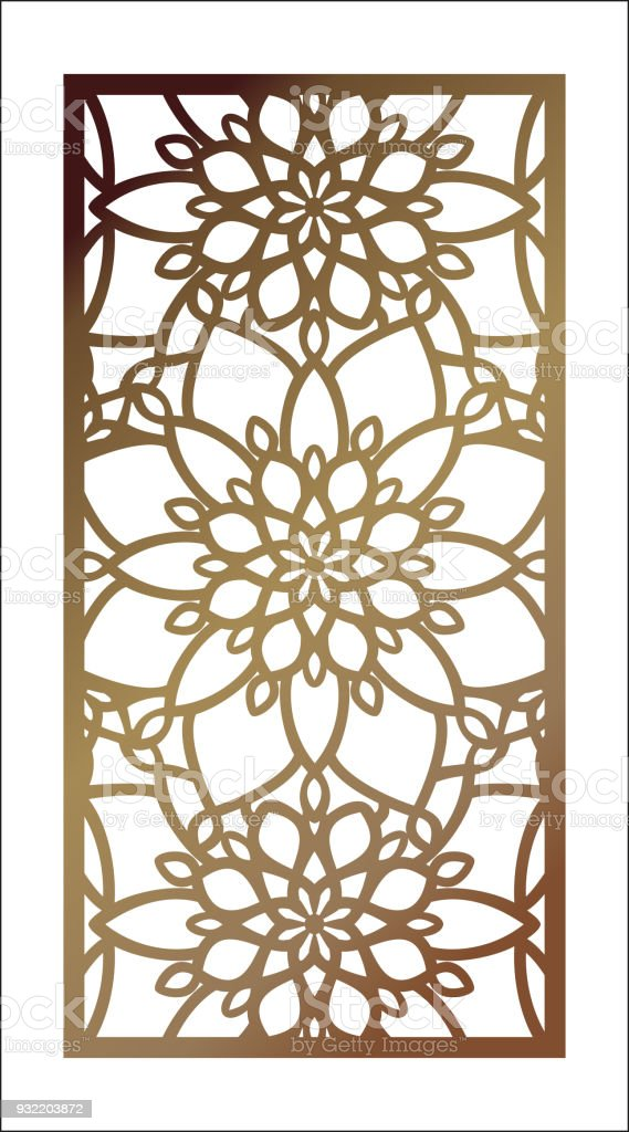Vector Laser Cut Panel Pattern Template For Decorative