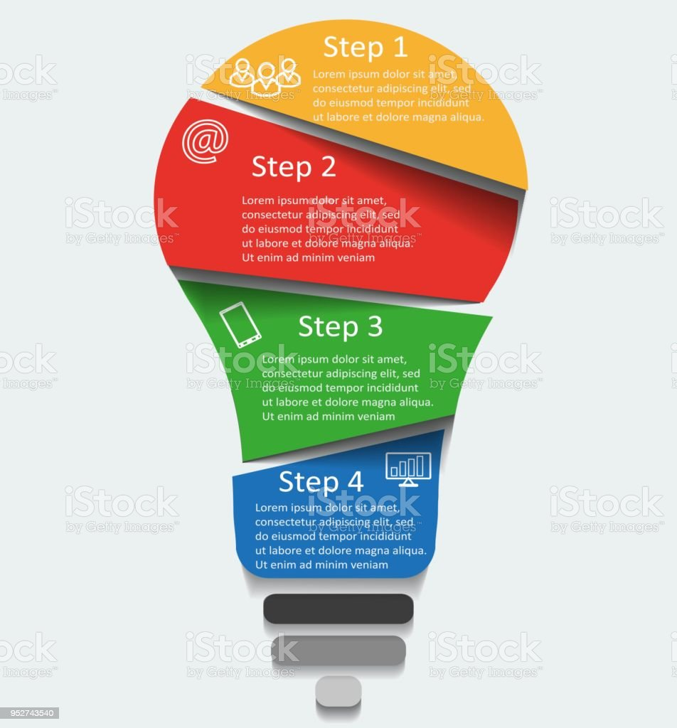 hight resolution of vector light bulb infographic template for diagram graph presentation and round chart