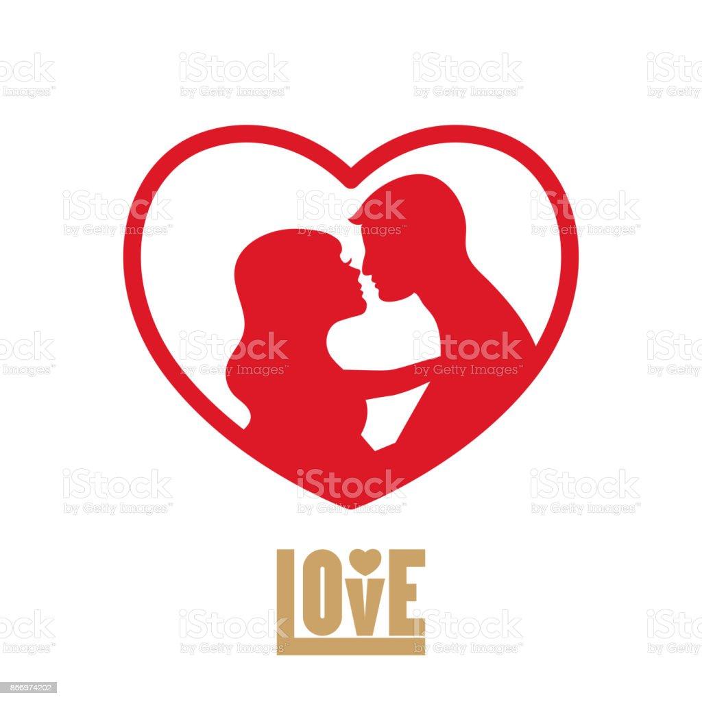 vector love logo stock