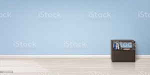 mockup vector empty wall floor furniture brown interior wooden flooring books stand vectors realistic minimalistic living illustrations studio flat filters