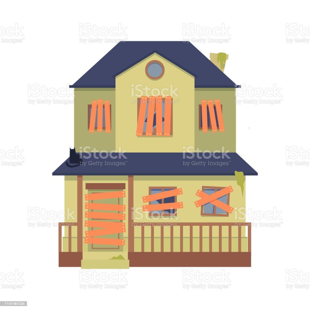 House Cartoon Boarded