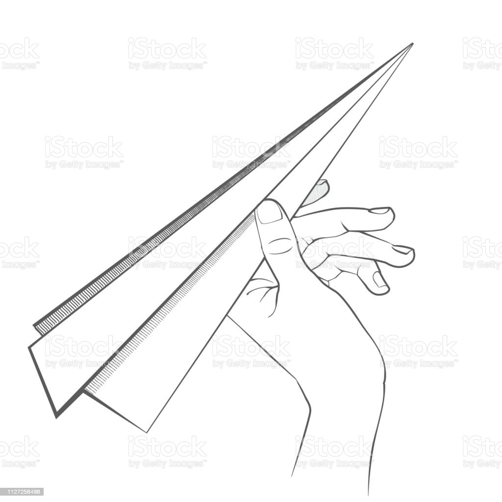 vector paper airplane on