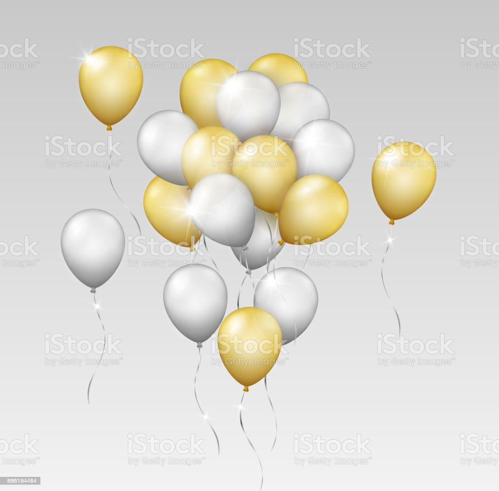 silver balloons clip art