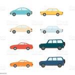 Vetores De Sedans Do Vetor E Veiculos E Carros De Suv Ajustados E Mais Imagens De Amarelo Istock