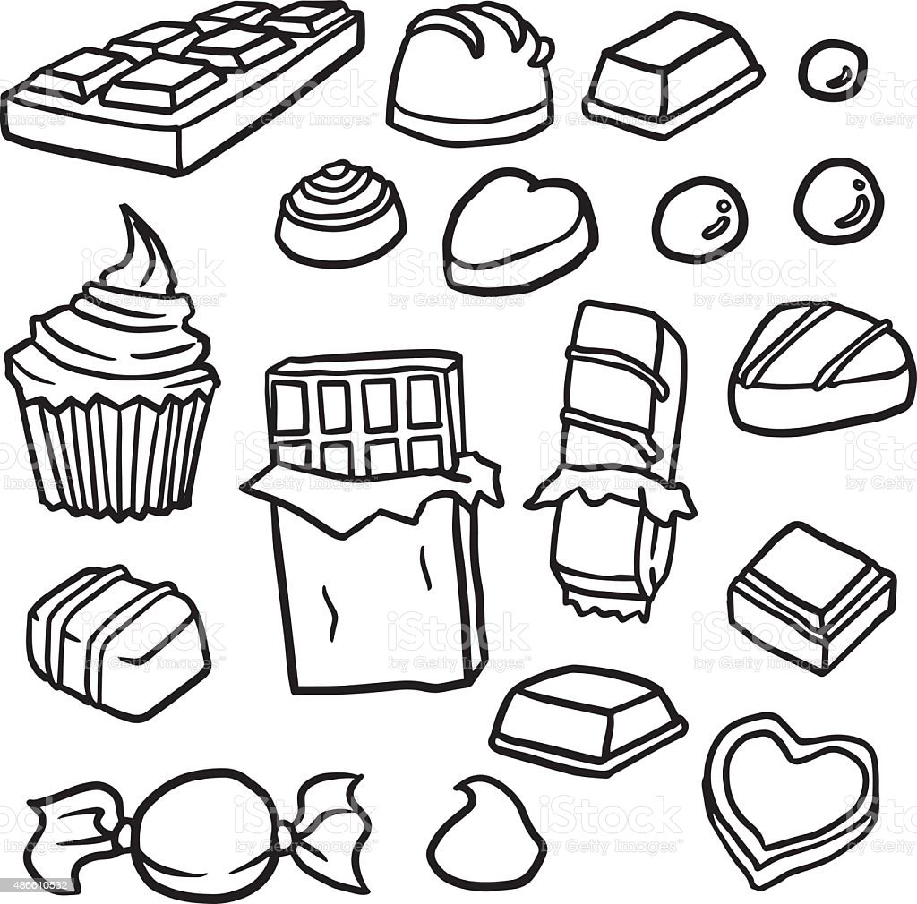 Vector Set Of Chocolate Stock Vector Art & More Images of
