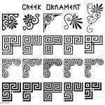 Vector Set Of Corner Design Elements In Greek Style Stock Illustration Download Image Now Istock