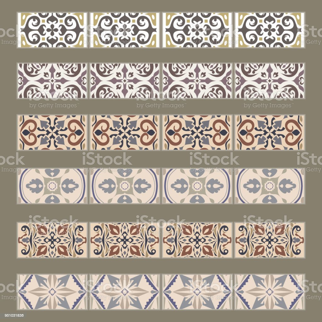 https www istockphoto com vector vector set of decorative tile borders collection of ornaments for ceramic tile gm951031836 259605352