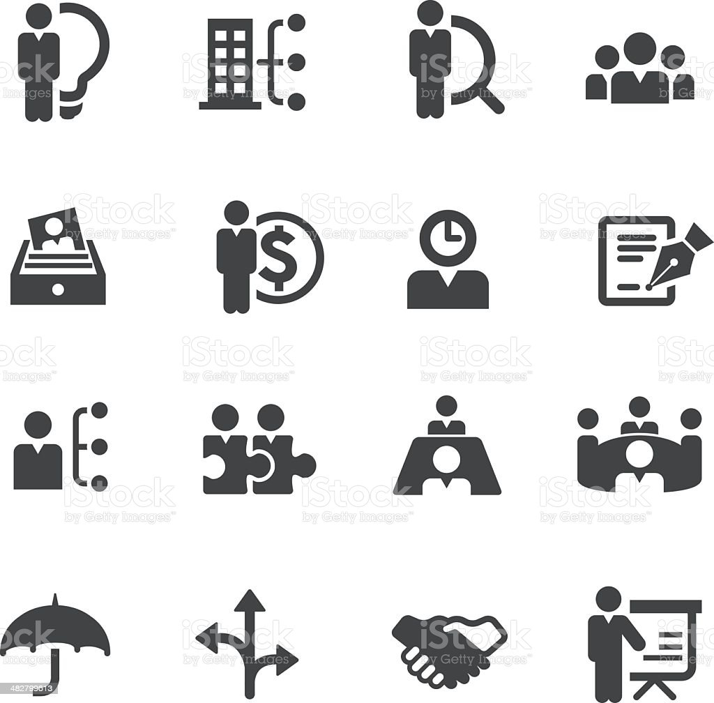 Vector Set Of Human Resource And Management Icons stock