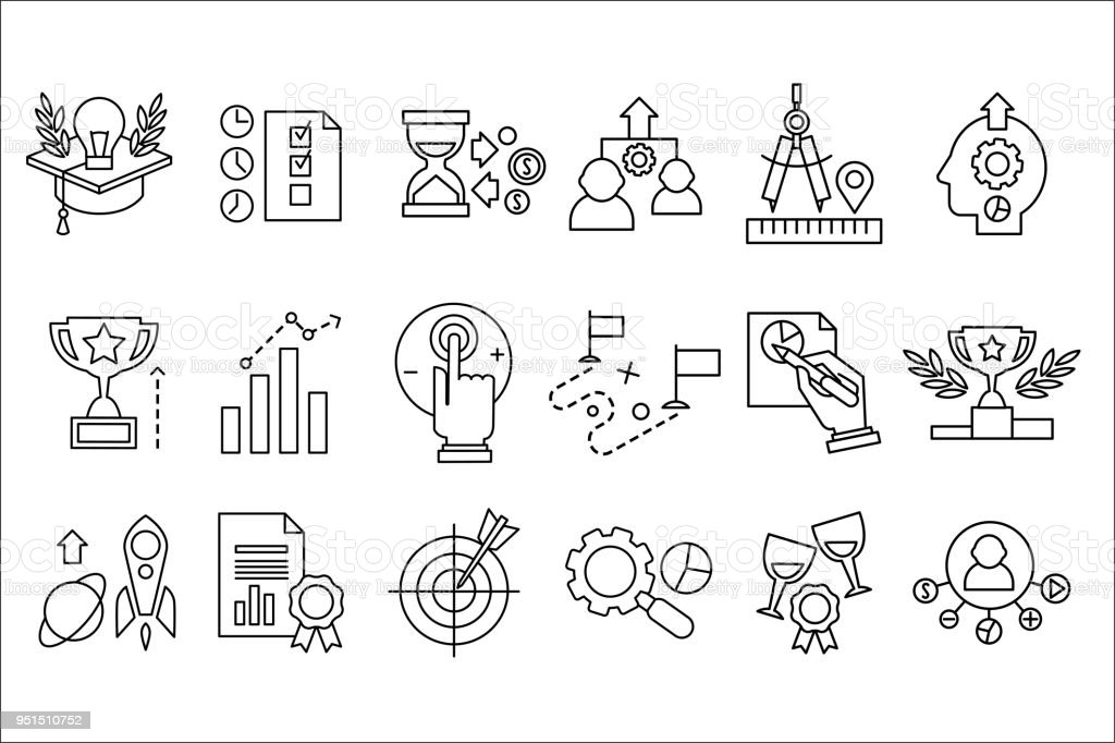 Vector Set Of Line Icons Smart Solution New Ideas