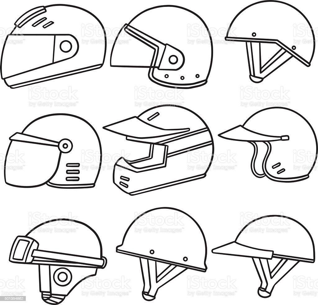 Vector Set Of Motorcycle Helmet Stock Vector Art & More