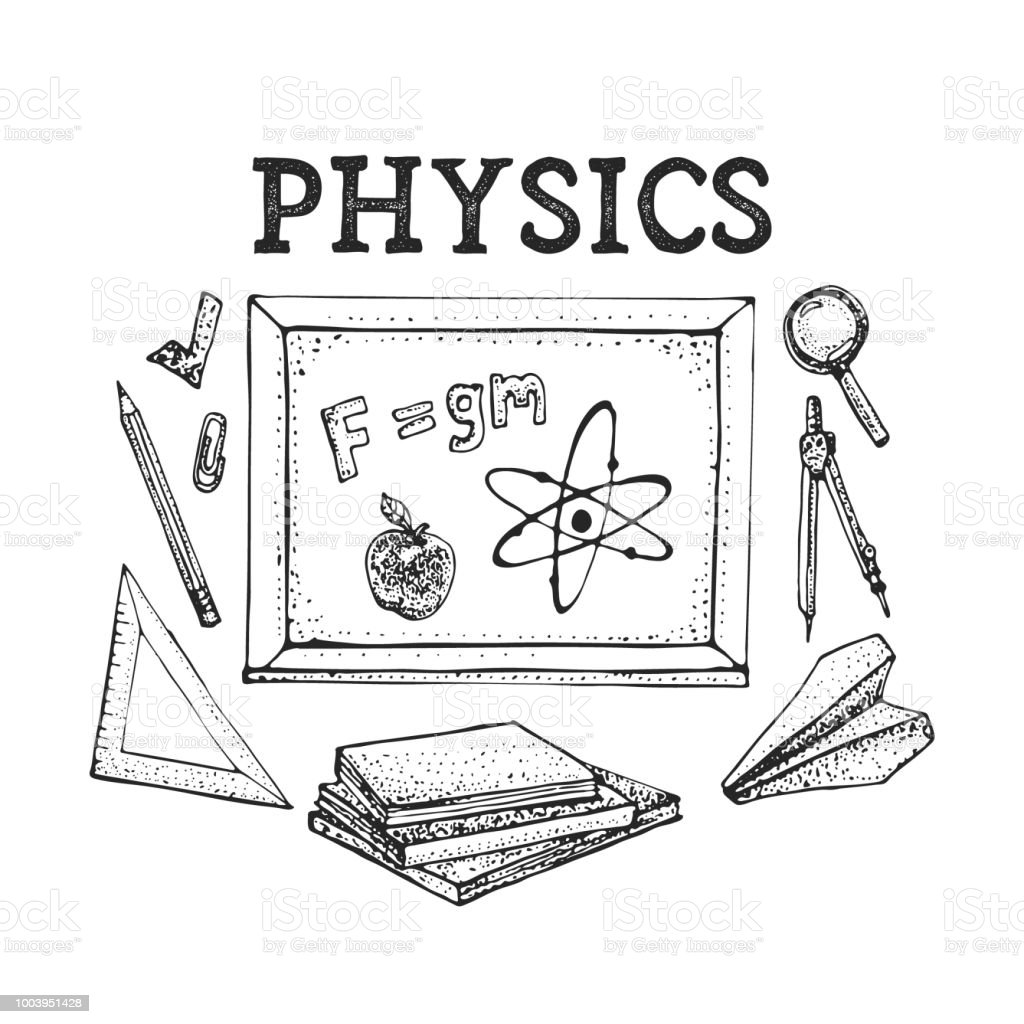 Vector Set Of Physics Science Theory And Bonding Formula