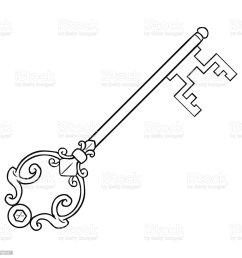 vector single lineart antique key royalty free vector single lineart antique key stock vector art [ 1024 x 1024 Pixel ]