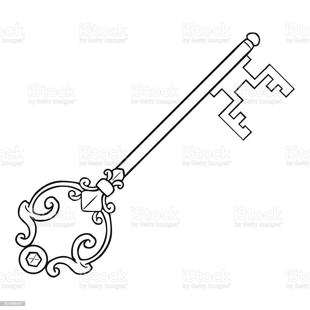 hight resolution of vector single lineart antique key royalty free vector single lineart antique key stock vector art