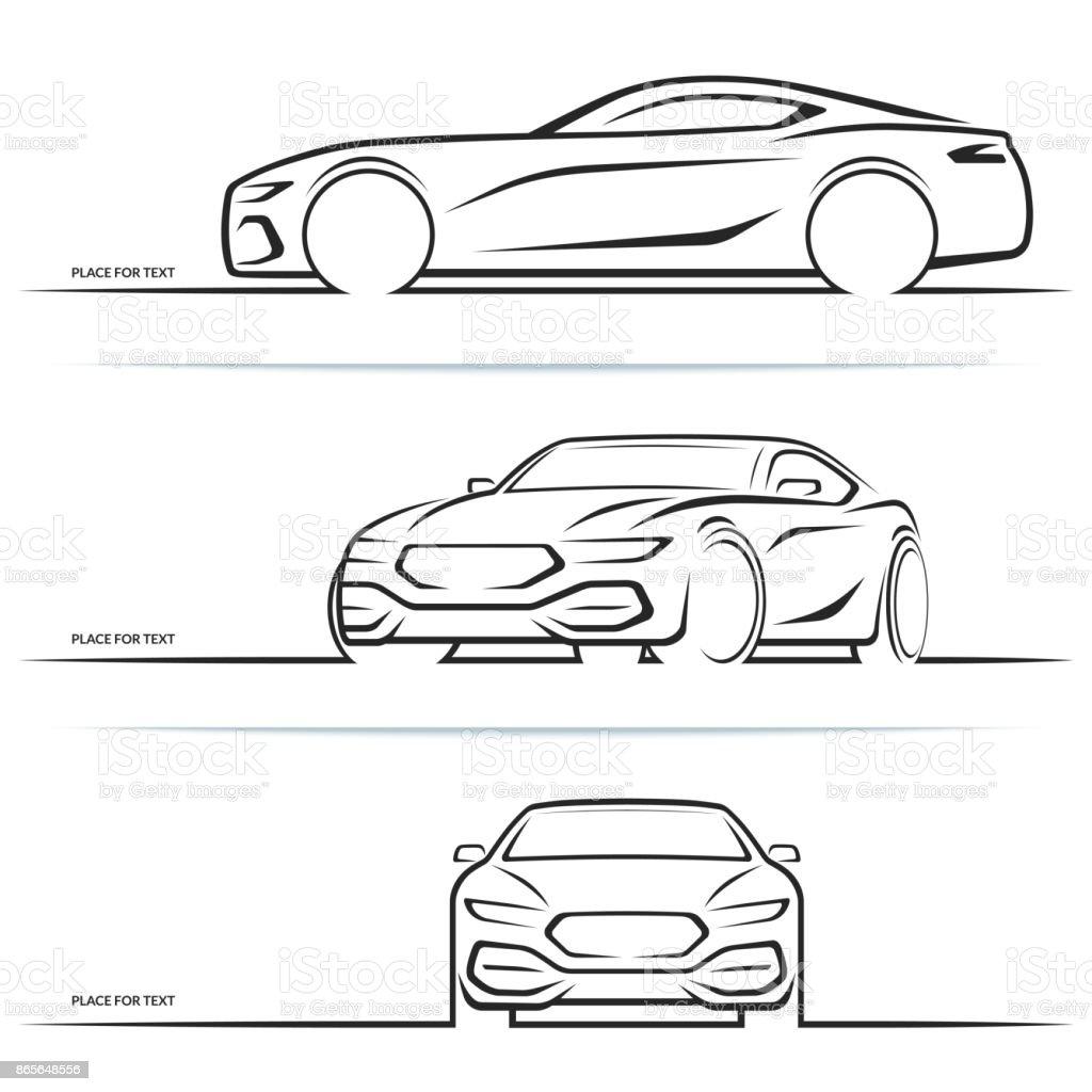 Vector Sports Car Silhouettes Stock Vector Art & More