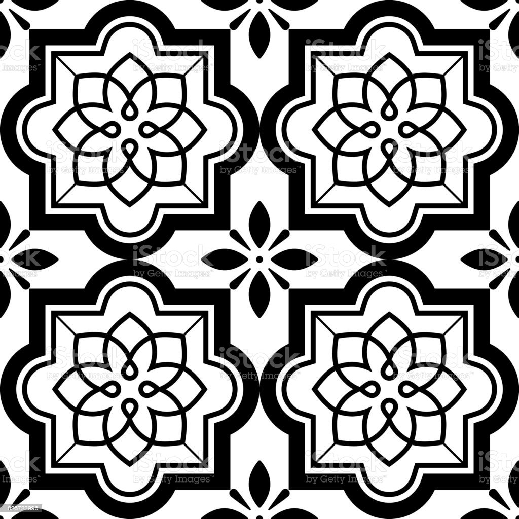https www istockphoto com illustrations moroccan tile black and white