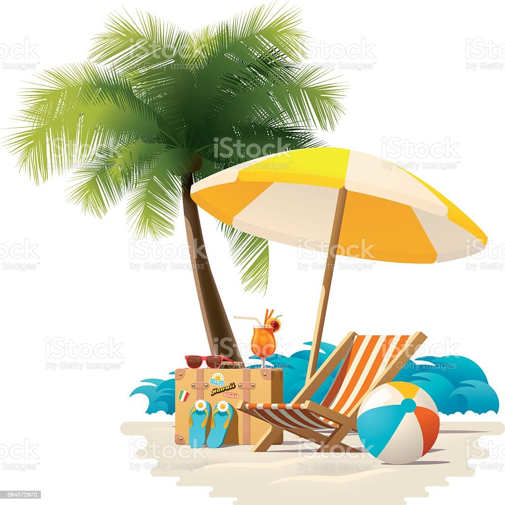 Vector Travel And Summer Beach Vacation Relax Icon Stock Illustration Download Image Now Istock