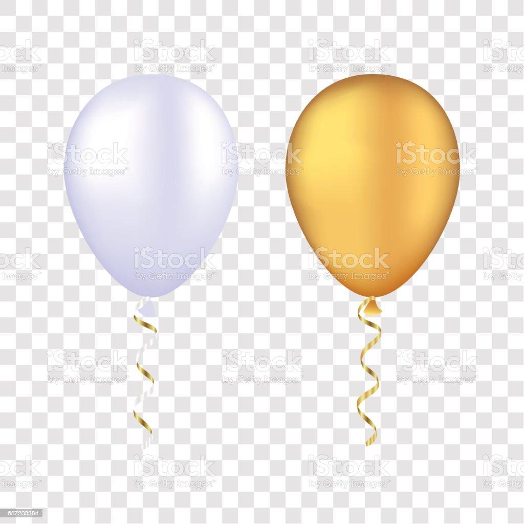 gold balloon clip art vector